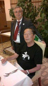 Mio padre e Masaru Emoto ad una conferenza sull'acqua